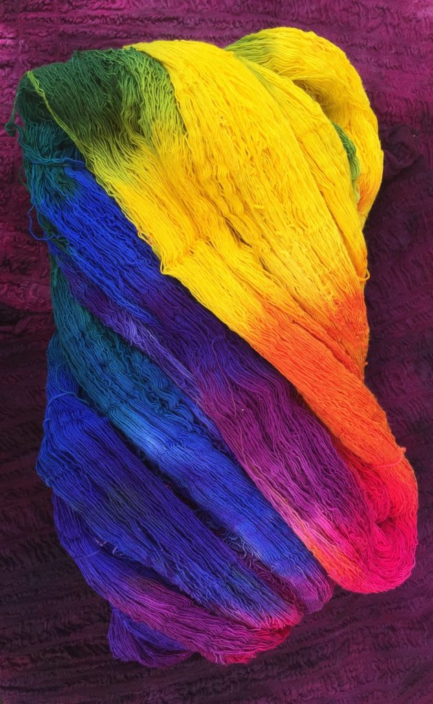 Regenbogenwolle, feine Merino