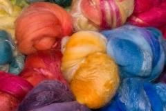 Wolle-Seide handgefärbt